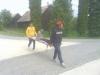 Účelové cvičenie- transport raneného k záchrannému vozidlu