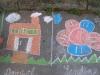 Kreslenie na chodník